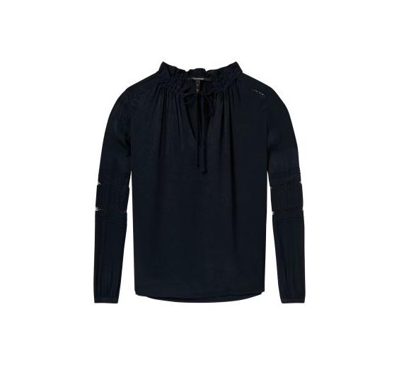 ead1d9e917be Μπλούζα σε σκούρο μπλε χρώμα - Boudoir de Peli
