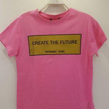 T-shirt σε γκρι χρώμα με τύπωμα