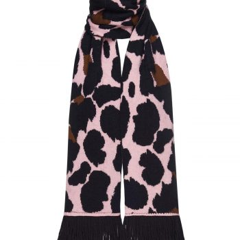 ANIMAL PRINTED PINK SCARF