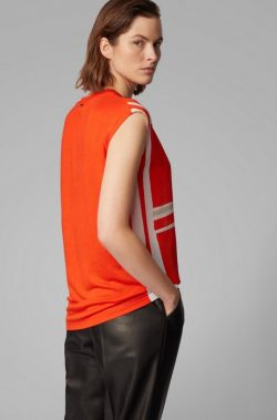 Relaxed-fit T-shirt with silk front