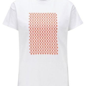 Relaxed-fit T-shirt in cotton with monogram pattern