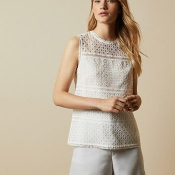 Lace panelled top