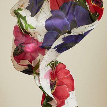 silk long scarf