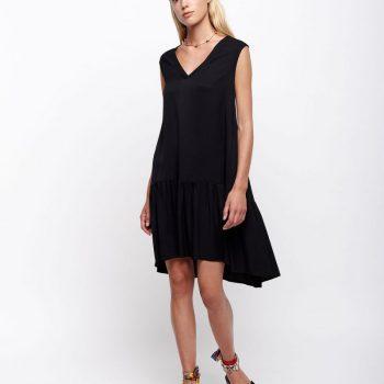 Μαυρο Φορεμα με βολαν