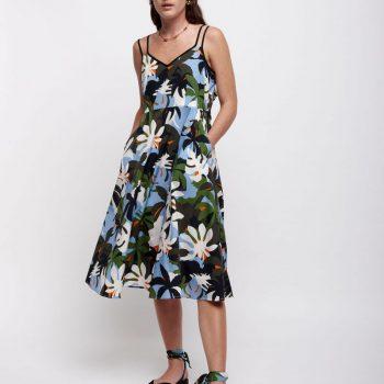 Φορεμα με Τροπικο Μοτιβο