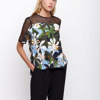 T-shirt με Μαυρο Διχτυ