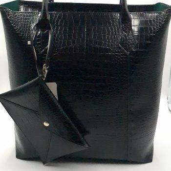 Τσάντα με εκτύπωση κροκό