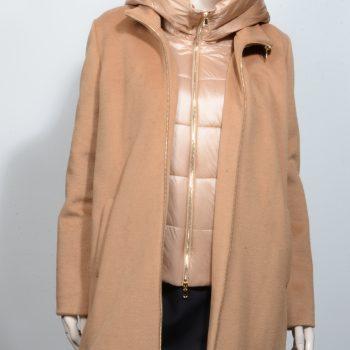 Παλτό με επένδυση και κουκούλα