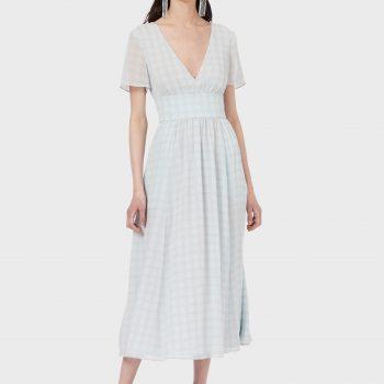 Μακρύ φόρεμα V-neck