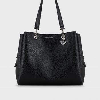 Τσάντα με λαβές και ιμάντα ώμου