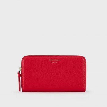 Δερμάτινο πορτοφόλι με φερμουάρ