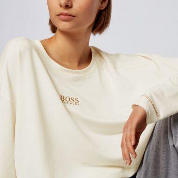 Χαλαρή μπλούζα με λεπτομέρεια λογότυπου